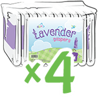 ABUniverse Lavender Diapers