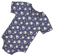ABUniverse Patterned DiaperSuit Space Penguins