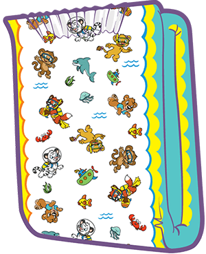 ABUniverse Crinklz Aquanaut Diapers