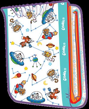 ABUniverse Crinklz Astronaut Diapers